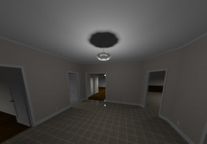 Big house 3D entry view 1