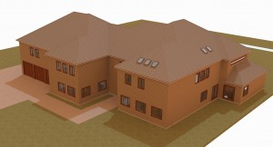Big house 3D view exterior 1