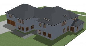 Big house 3D view exterior 2