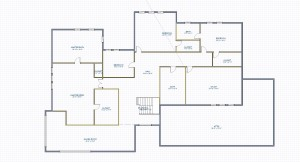 Big house plan view floor 2