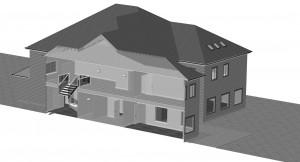 Big house 3D view exterior 4