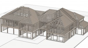 Big house 3D view exterior 5